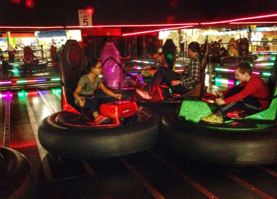 Children Playing on Bumper Cars