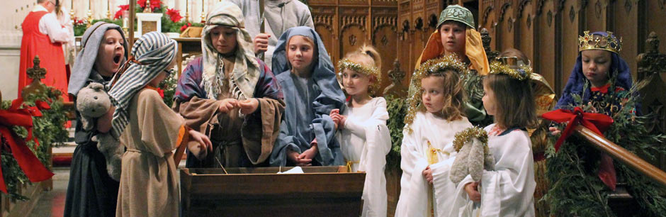 Children Acting in the Christmas Pageant